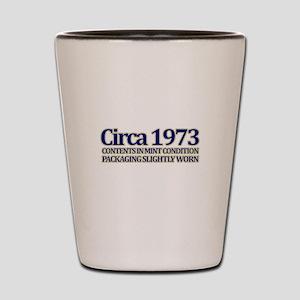 Funny 40th Gifts, Circa 1973 Shot Glass