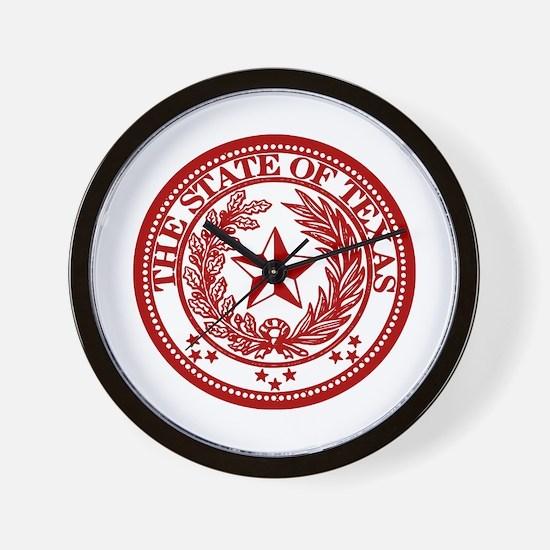 Red Seal Wall Clock