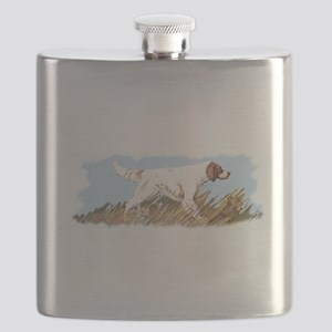 Setter With Bird Flask
