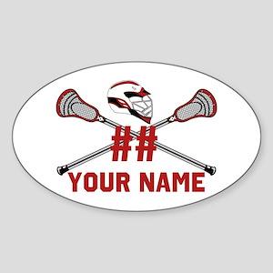 Personalized Crossed Lacrosse Sticks with Helmet R