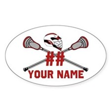 Personalized Crossed Lacrosse Sticks with Helmet R