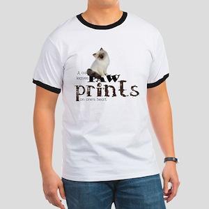 Brown / White Birman Cat Ringer T