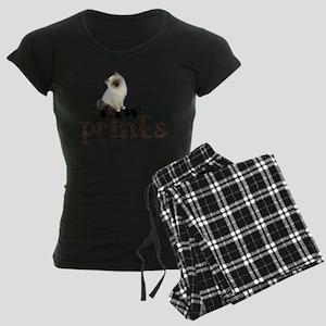 Brown / White Birman Cat Women's Dark Pajamas