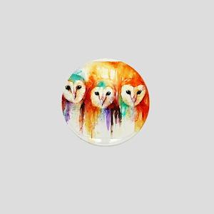 Row of Owls ~ Mini Button
