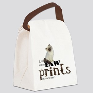 Brown / White Birman Cat Canvas Lunch Bag