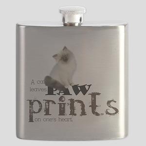 Brown / White Birman Cat Flask