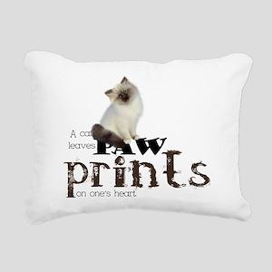 Brown / White Birman Cat Rectangular Canvas Pillow