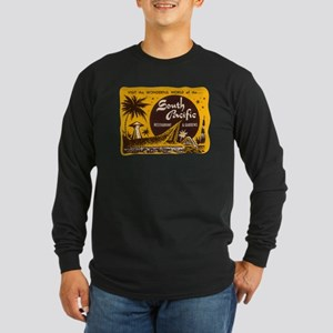 South Pacific Tiki Bar Long Sleeve Dark T-Shirt