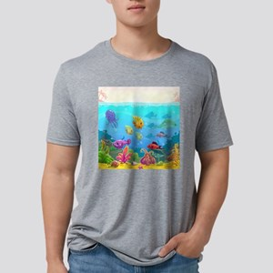 Cute Fish Mens Tri-blend T-Shirt