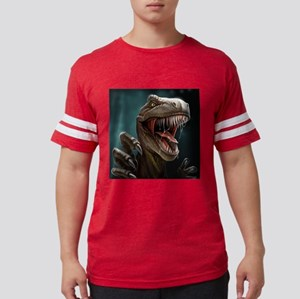 Velociraptor Mens Football Shirt