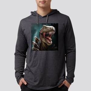 Velociraptor Mens Hooded Shirt