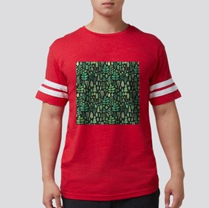 Forest Pattern Mens Football Shirt