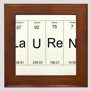 Lauren periodic table of elements Framed Tile