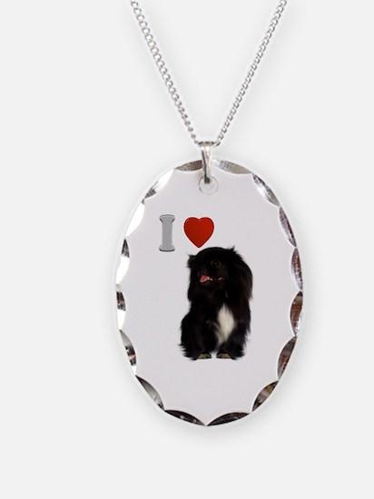Black Pekingese Necklace