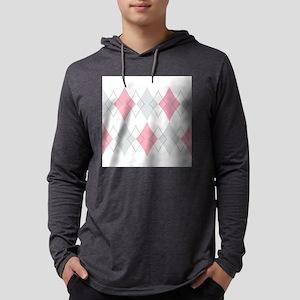 Argyle Pattern Mens Hooded Shirt