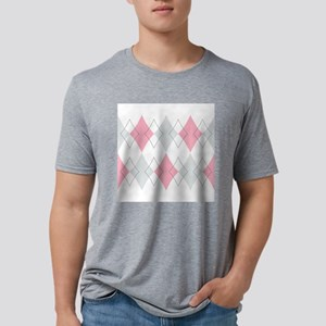 Argyle Pattern Mens Tri-blend T-Shirt