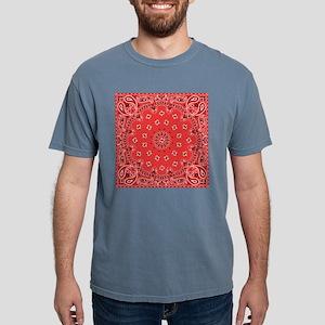 Red Bandana Mens Comfort Colors Shirt