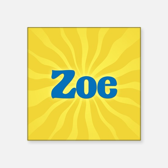 "Zoe Sunburst Square Sticker 3"" x 3"""