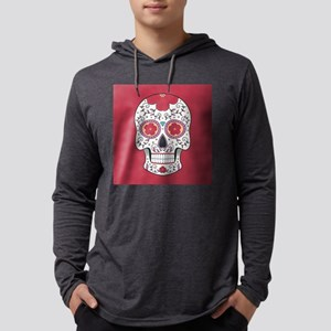 Sugar Skull Mens Hooded Shirt