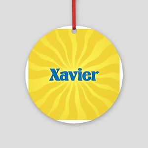 Xavier Sunburst Ornament (Round)