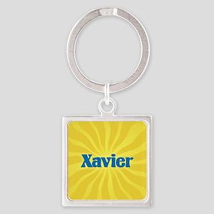 Xavier Sunburst Square Keychain
