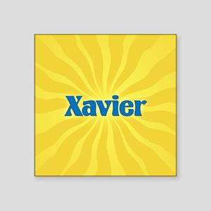 "Xavier Sunburst Square Sticker 3"" x 3"""