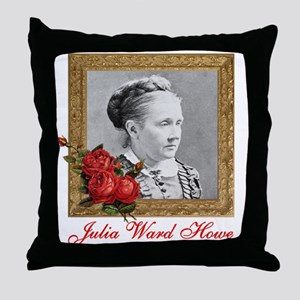 Julia Ward Howe Throw Pillow