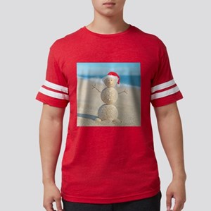 Beach Snowman Mens Football Shirt