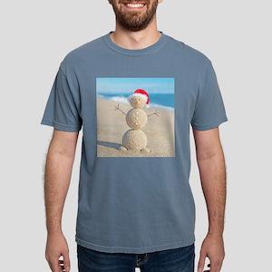 Beach Snowman Mens Comfort Colors Shirt