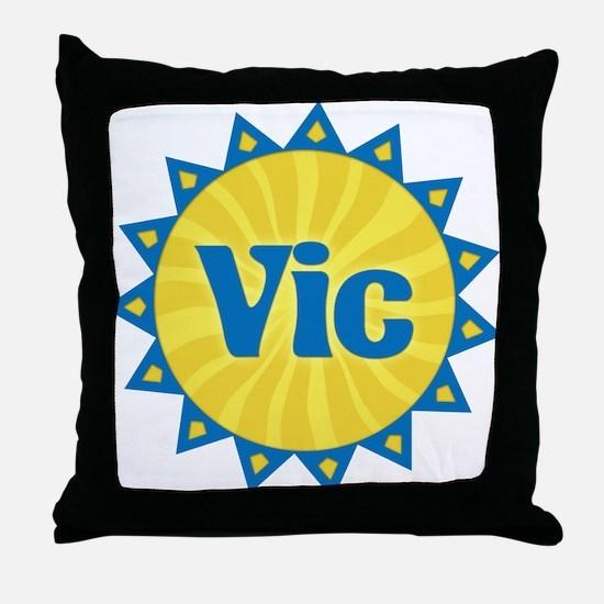 Vic Sunburst Throw Pillow