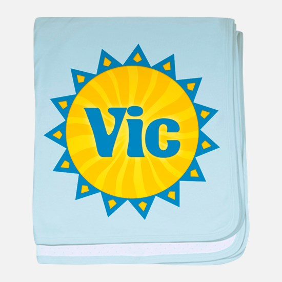 Vic Sunburst baby blanket