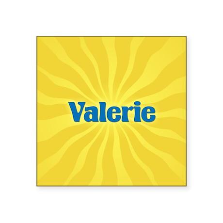 "Valerie Sunburst Square Sticker 3"" x 3"""