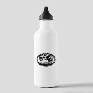 Adventure Bike Oval Stainless Water Bottle 1.0L