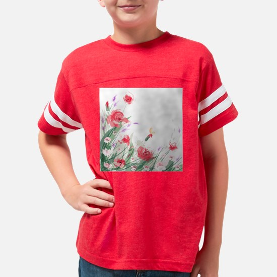 Flowers Painting Youth Football Shirt