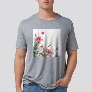 Flowers Painting Mens Tri-blend T-Shirt