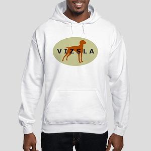 vizsla dog Hooded Sweatshirt