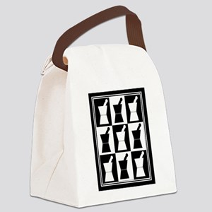 pharmacist blanket popart bw Canvas Lunch Bag