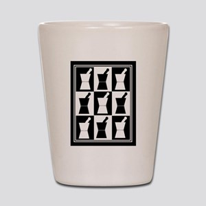 pharmacist blanket popart bw Shot Glass