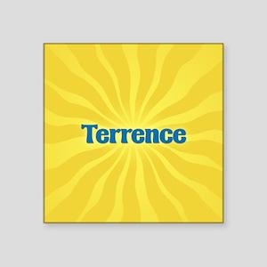 "Terrence Sunburst Square Sticker 3"" x 3"""
