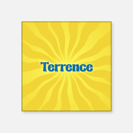 "Terrence Sunburst Square Sticker 3"" x 3"""