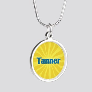 Tanner Sunburst Silver Round Necklace
