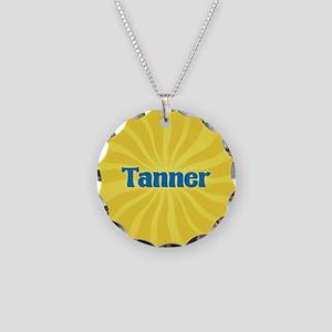 Tanner Sunburst Necklace Circle Charm