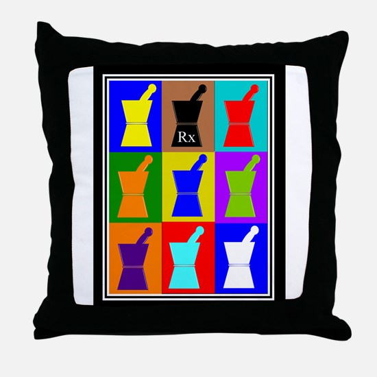 Pharmacist blanket popart 1.PNG Throw Pillow