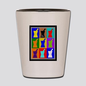 Pharmacist blanket popart 1 Shot Glass