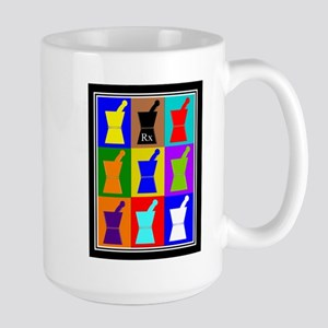Pharmacist blanket popart 1 Large Mug