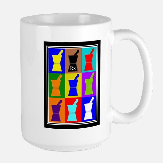 Pharmacist blanket popart 1.PNG Large Mug
