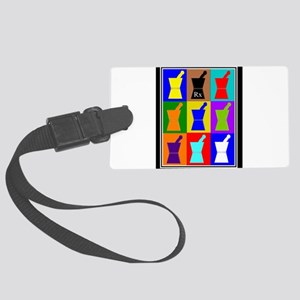 Pharmacist blanket popart 1 Large Luggage Tag