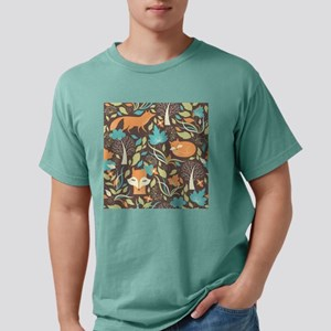 Woodland Fox Mens Comfort Colors Shirt