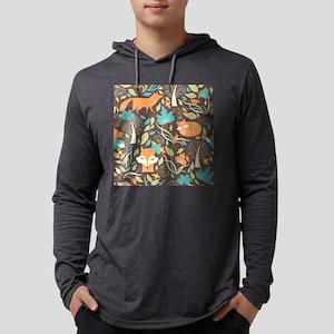 Woodland Fox Mens Hooded Shirt