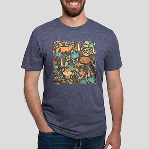 Woodland Fox Mens Tri-blend T-Shirt